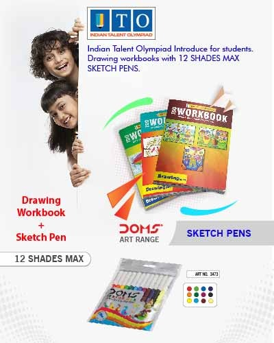 Class 10 Drawing Olympiad Book & Sketch Pen Max 12