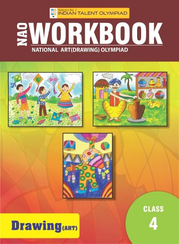 Indian Talent Olympiad Drawing Olympiad Book For Class 4