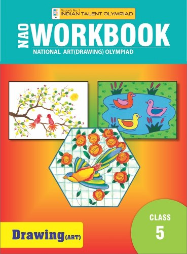 Indian Talent Olympiad Drawing Olympiad Book For Class 5