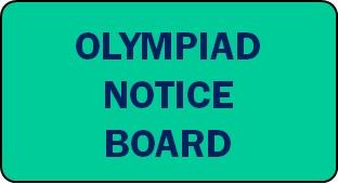 Olympiad Notice Board 2021-22